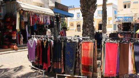 Oriental Bazaar In Tunisia stock footage