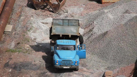 Dumper truck Footage