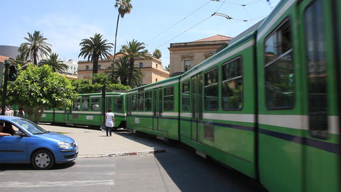 Green tramway Footage