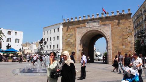 Triumphal arch in Tunis, Tunisia Footage