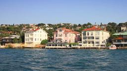 Waterfront Mansions of Bosphorus Sea Footage