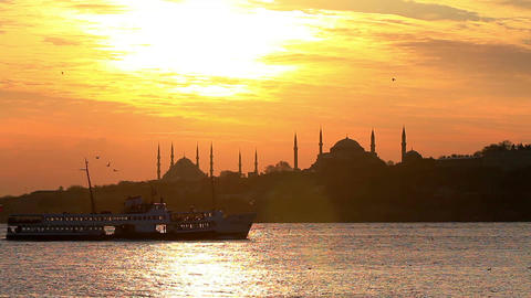 Istanbul. Static telephoto shot Footage