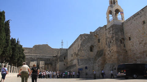 Church of the Nativity in Bethlehem, Israel Footage