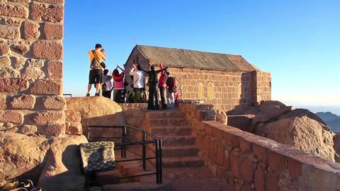 Pilgrims from China. Moses Mountain. Sinai Peninsula. Egypt Footage