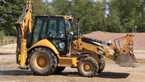 Yellow Tractor stock footage