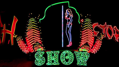 Strip Show stock footage