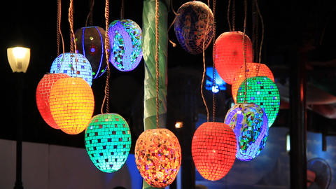 Coloured pendent lamps Footage