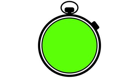 Stopwatch Greenscreen to Bluescreen Transition, Stock Animation