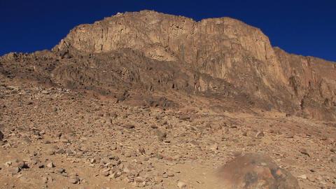 Sacred place - Moses Mountain. Sinai Peninsula. Egypt Live Action