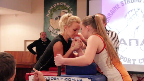 Arm wrestling Footage