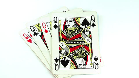 Four queens. Queen of spades Footage