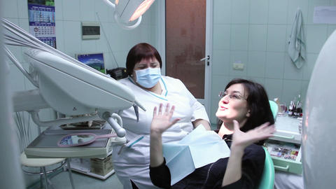 Dental Health Service stock footage