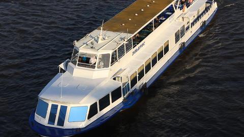White motor vessel Live Action