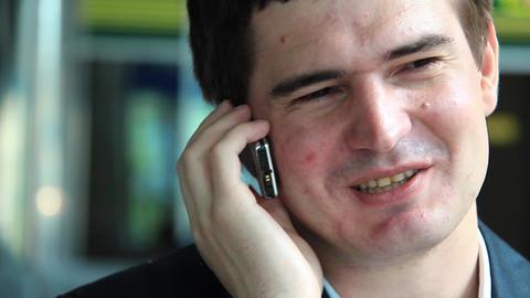Man speaks on a mobile phone Footage