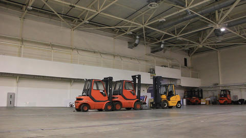 Storage room and forklift loaders Live Action