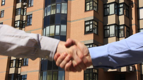 Business handshake Footage
