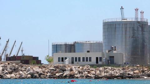 Seaport. Antalya, Turkey stock footage