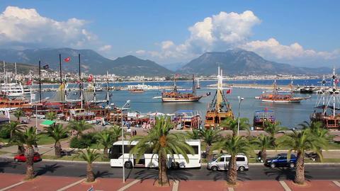 Seaport, Alanya, Turkey Footage
