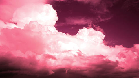 Storm clouds with red filter. Timelapse 1080p. Video without birds Footage