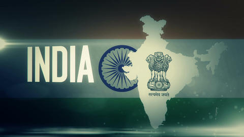 TV opener, Country: India (with national emblem) Animation