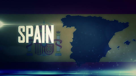 TV Opener, Country: Spain stock footage