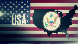TV Opener, Country: USA (with National Emblem) stock footage
