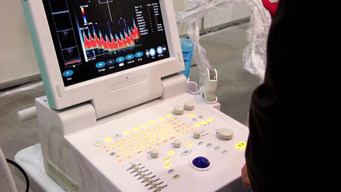 Ultrasonic scanner for medical examination Footage