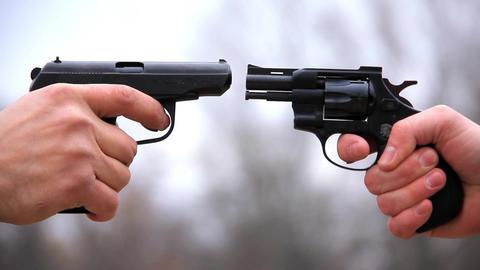 Pistol vs revolver Footage