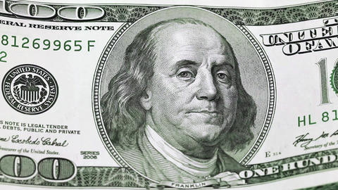 One hundred dollars. Large denomination note Footage