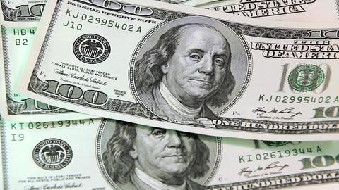 100 dollars bank notes Footage