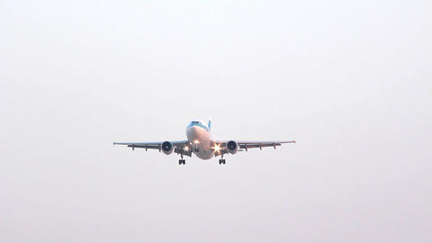Aircraft Landing stock footage