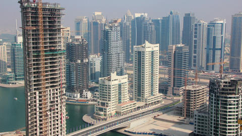 Development Of Dubai Marina, United Arab Emirates stock footage