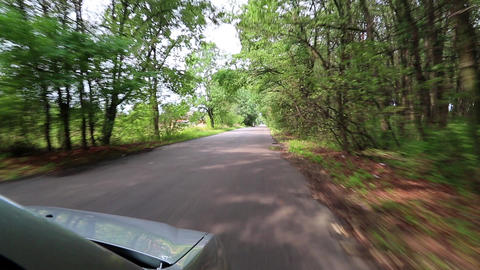 Driving on a country road. Video filming from moving car Footage