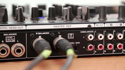 DJ console sockets Footage