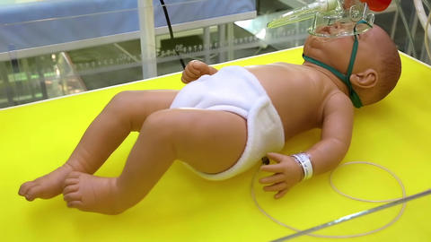 Medical complex for phototherapy, heating and neonatal resuscitation Footage