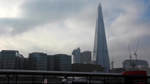 The Shard Tower or London Bridge Tower, England Live Action