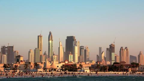 4K Sand storm in Dubai Footage