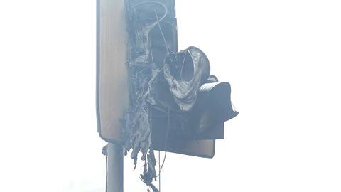 Burned traffic light Footage