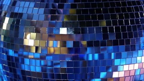 Rotating glitterball on the dancefloor Footage