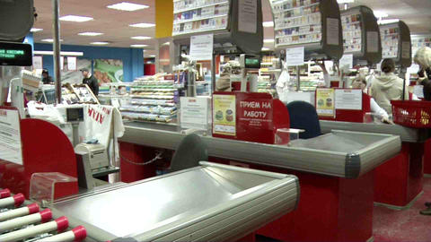 Supermarkets And Grocery Stores Within The (shelve stock footage