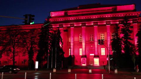 Red building of Kiev National University, Ukraine Footage