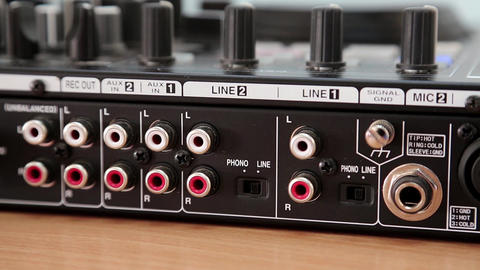 Disc jockey console sockets Footage