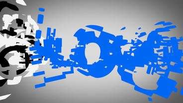 Disperse 3D Logo stock footage