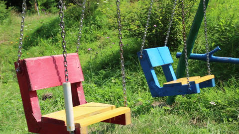 Colourful swings Footage