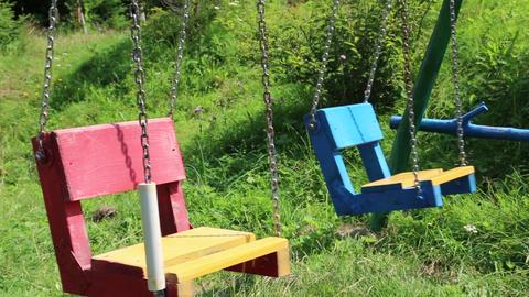 Colourful swings Footage