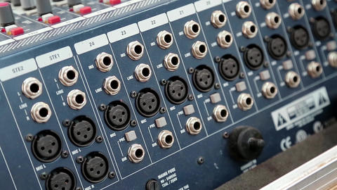 Audio production console sockets Live Action