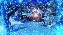 Christmas Snowy Scene 02 snowing Animation