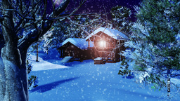 Christmas Snowy Scene 04 snowing neutral Animation
