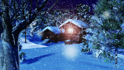 Christmas Snowy Scene 04 snowing neutral Stock Video Footage