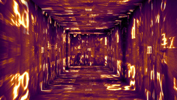 Christmas Tunnel v1 04 Stock Video Footage